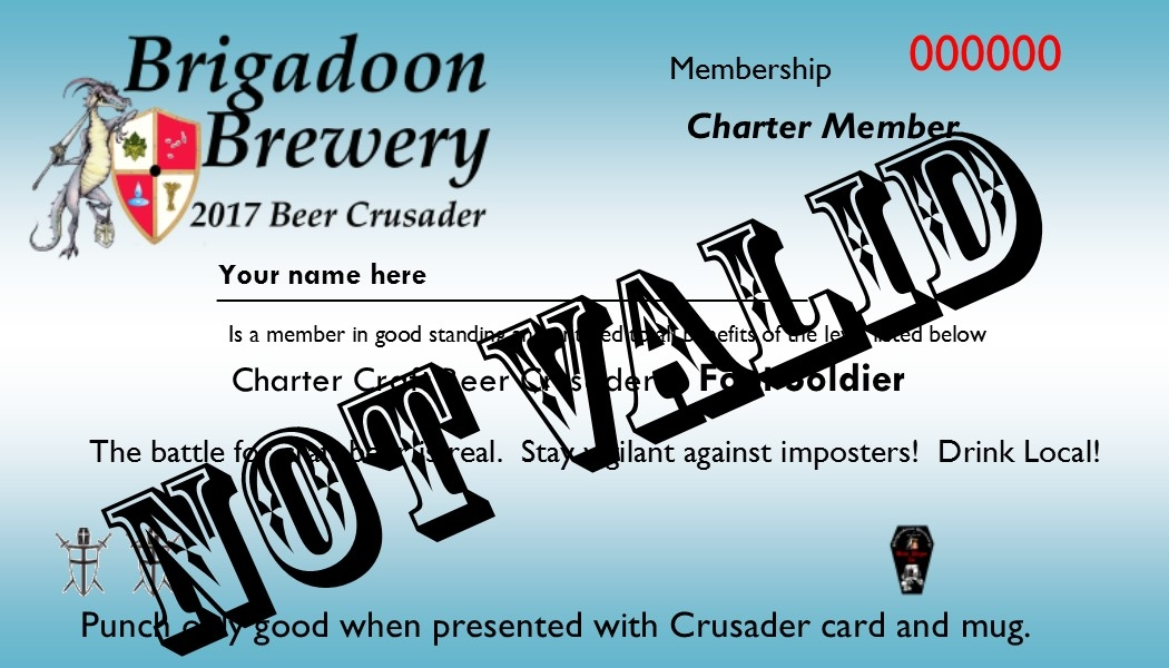 Craft Beer Crusader Member Card